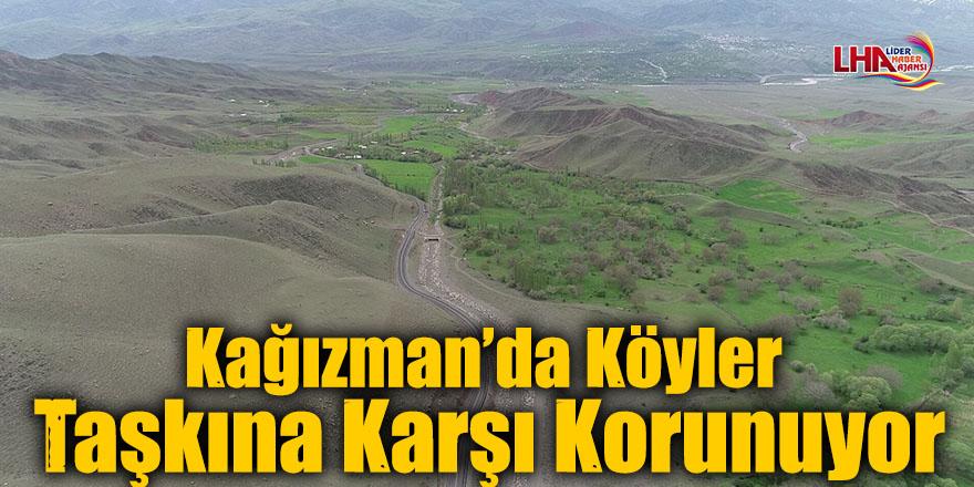 Kağızman'da Köyler Taşkına Karşı Korunuyor
