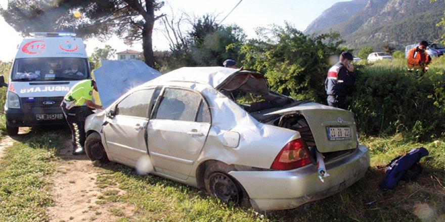 Muğla'da trafik kazası: 3 yaralı