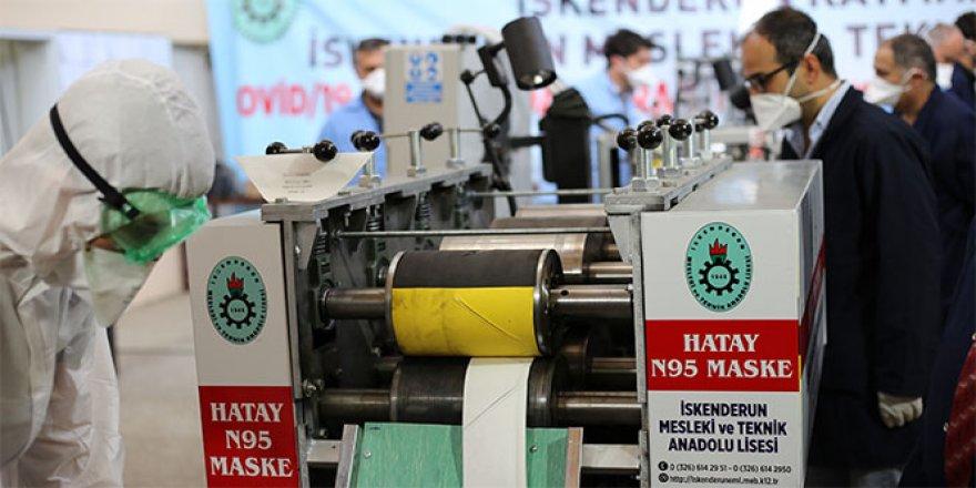 Meslek lisesinde N95 maske üretim makinesi yapıldı