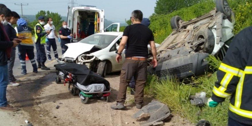 Çan'da trafik kazası: 1 ölü, 2 yaralı