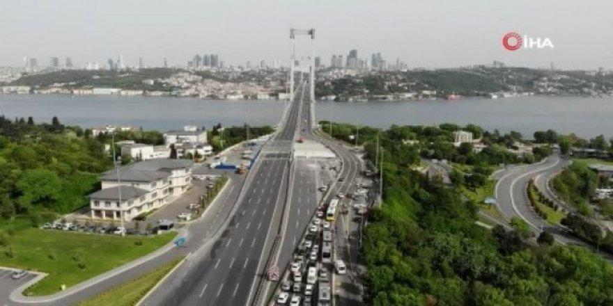 15 Temmuz Şehitler Köprüsü havadan görüntülendi