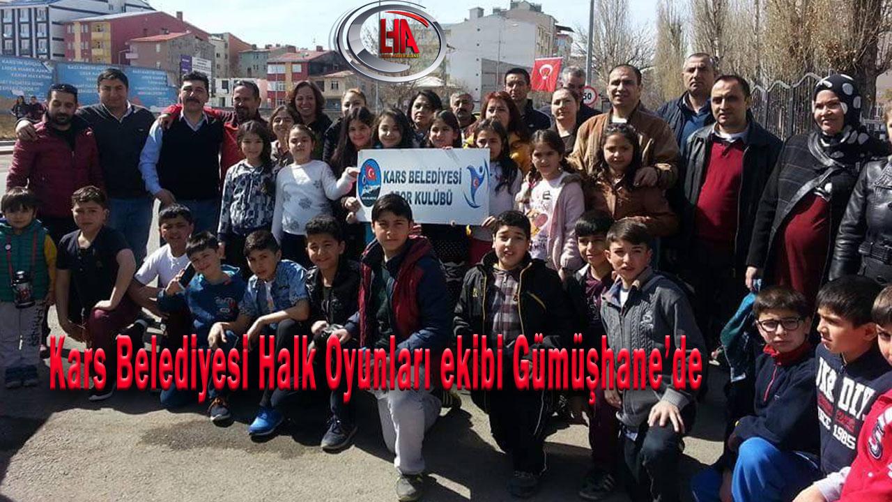 Kars Belediyesi Halk Oyunları ekibi Gümüşhane'de