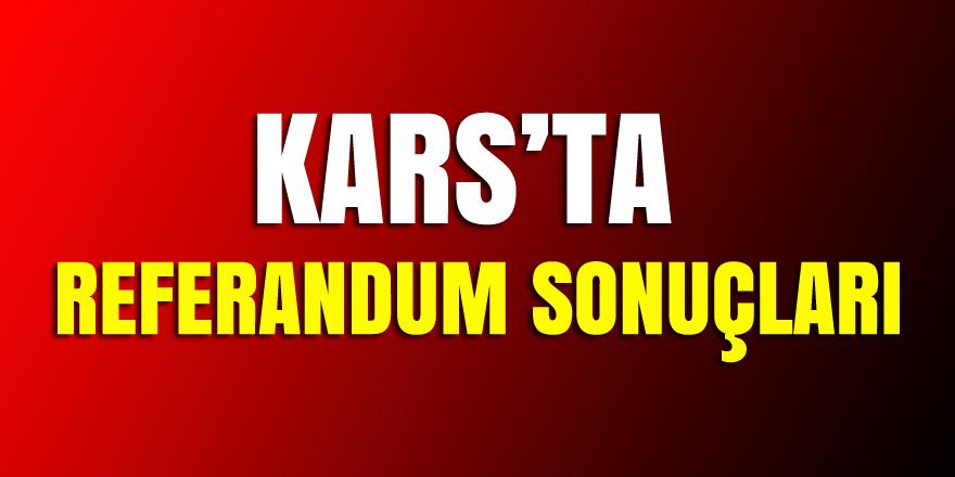 Kars'ta Referandum sonucları belli oldu Evet: yüzde 50.99  Hayır: 49.01