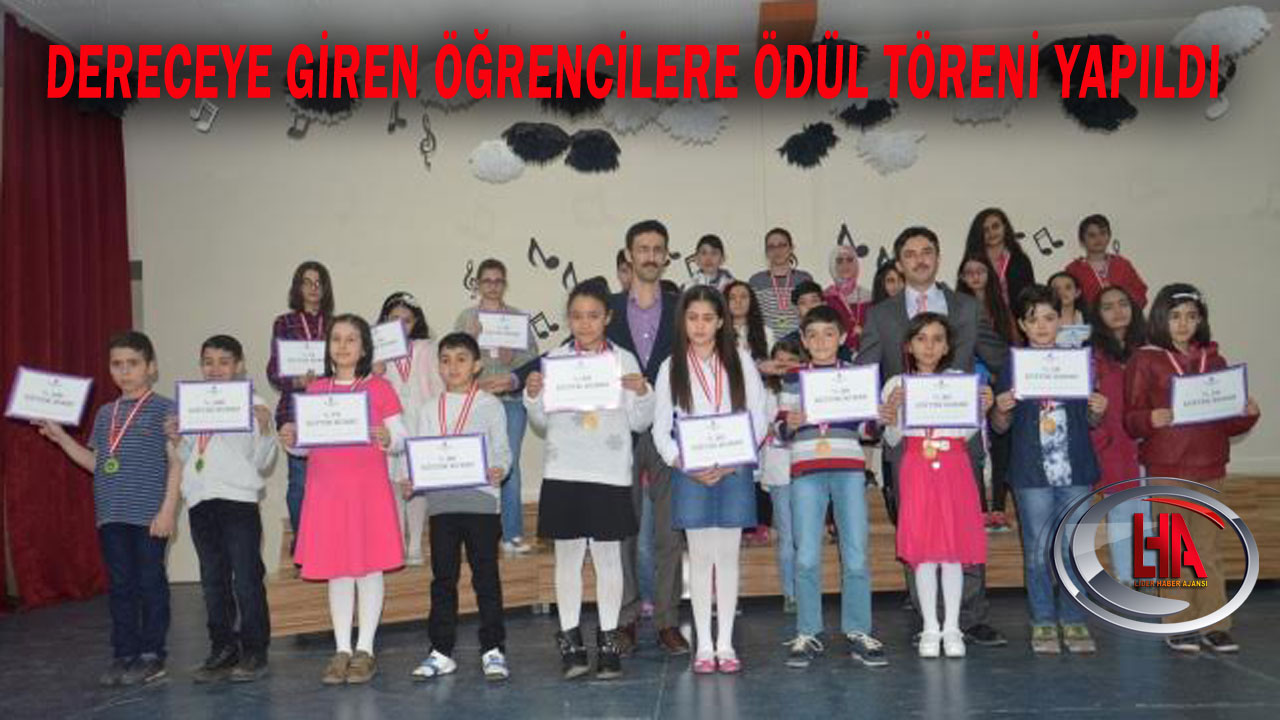 Dereceye Giren Öğrencilere Ödül Töreni Yapıldı