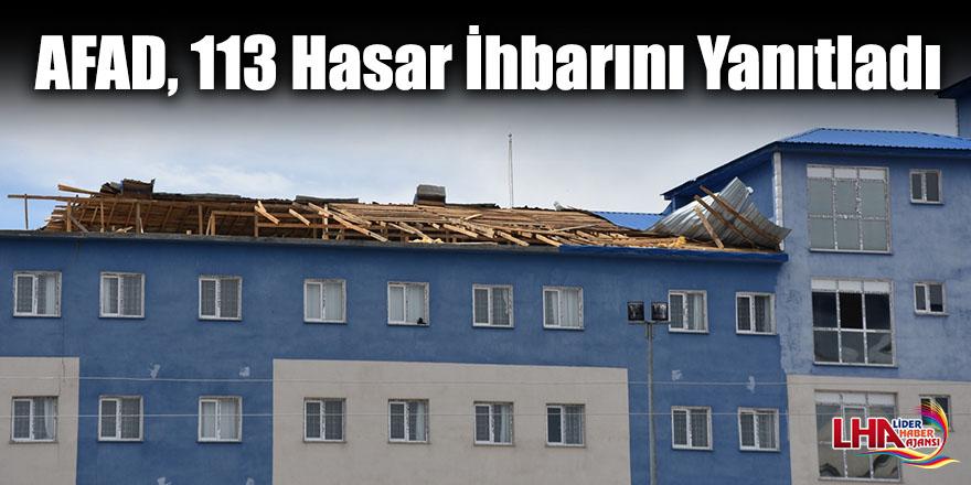 Kars'ta AFAD, 113 Hasar İhbarını Yanıtladı
