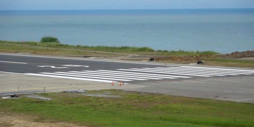 Trabzon Havalimanı'nda pist yenileme çalışmalarında sona gelindi