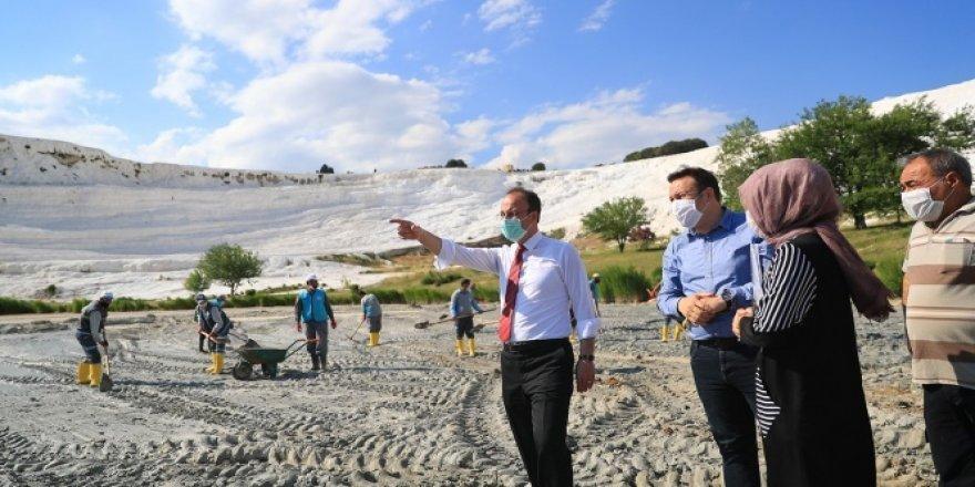 Pamukkale'den yaklaşık 400 kamyon çamur çıkarılacak