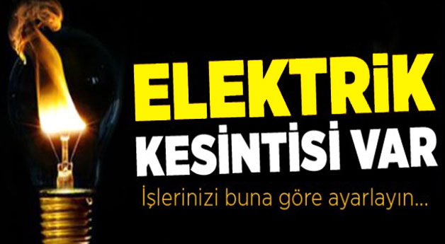 Kars´ta 6 Saat Elektrik Kesintisi!