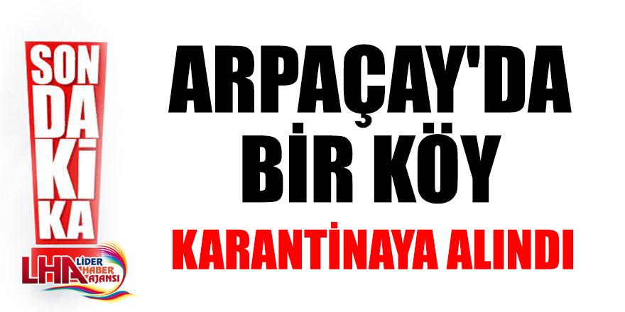Arpaçay'da Bir Köy Karantinaya Alındı