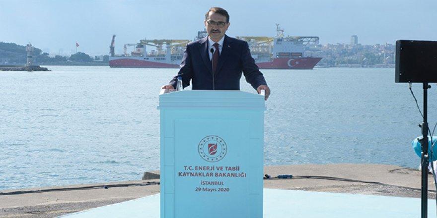 Bakan Dönmez: 'Fatih'i, Karadeniz'deki ilk sondajı için yolcu ediyoruz'