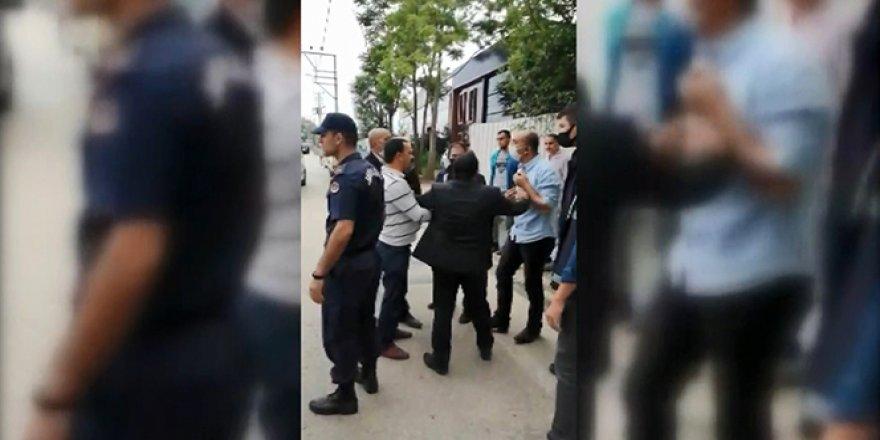 Bursa'da kaçak bina yıkımda zabıta memuruna yumruklu saldırı