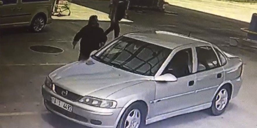 Korona virüs maskeli katil zanlısı kamerada