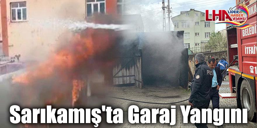 Sarıkamış'ta Garaj Yangını