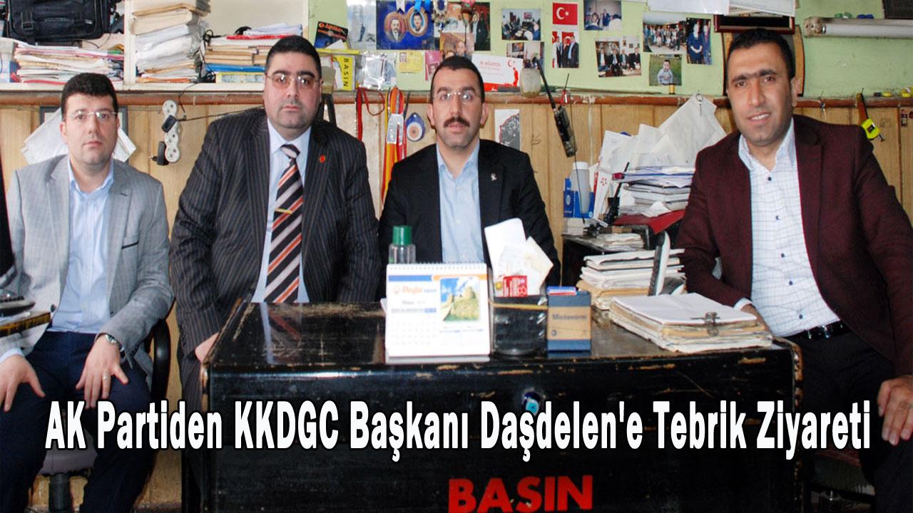 AK Partiden KKDGC Başkanı Daşdelen´e tebrik ziyareti