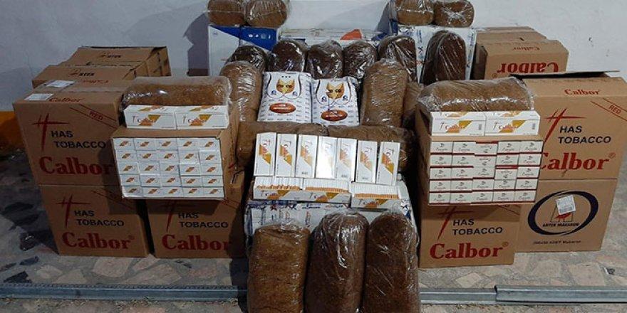 Elazığ'da 750 kilo tütün ile 200 bin adet makaron ele geçirildi