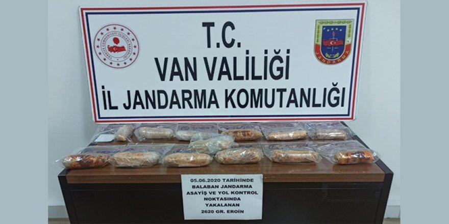 Van'da 3 kilogram eroin ele geçirildi