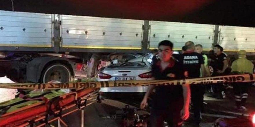 Yeni aldıkları araba ile kaza yapan genç çiftin feci ölümü
