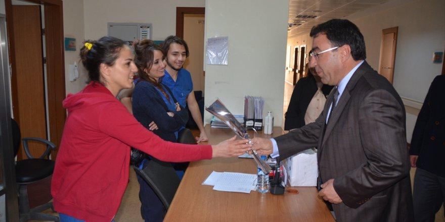 Başkan Toksoy Sarıkamış Devlet Hastanesini Ziyaret Etti