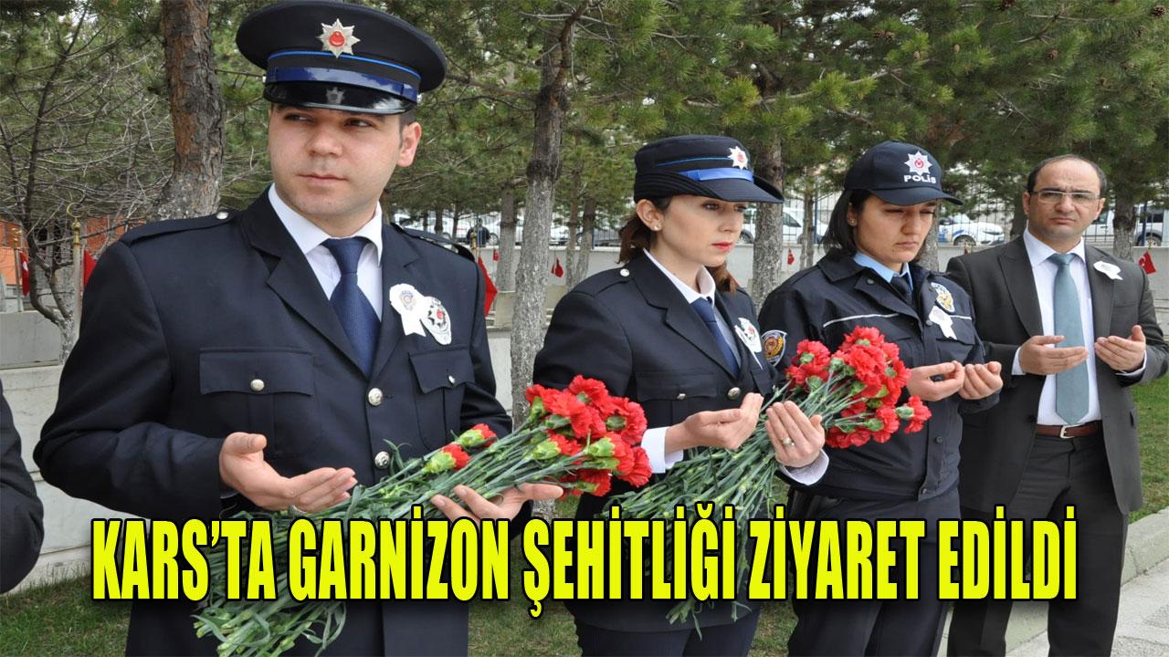 KARS'TA GARNİZON ŞEHİTLİĞİ ZİYARET EDİLDİ