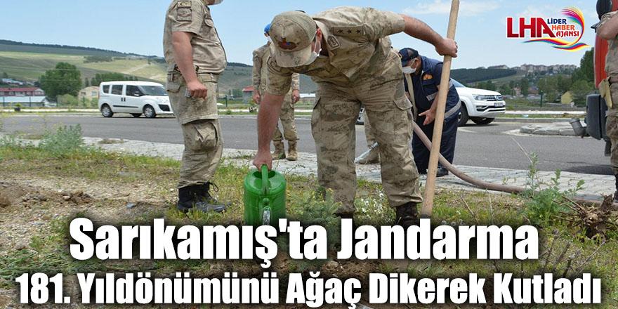Sarıkamış'ta Jandarma 181. Yıldönümünü Ağaç Dikerek Kutladı