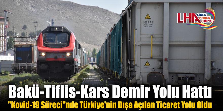 """Bakü-Tiflis-Kars Demir Yolu Hattı """"Kovid-19 Süreci""""nde Türkiye'nin Dışa Açılan Ticaret Yolu Oldu"""