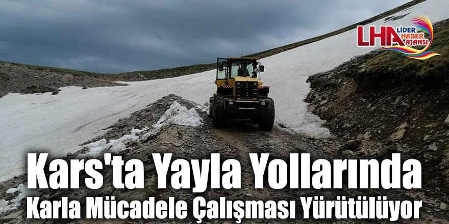 Kars'ta Yayla Yollarında Karla Mücadele Çalışması Yürütülüyor