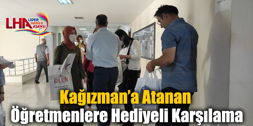 Kağızman'a Atanan Öğretmenlere Hediyeli Karşılama