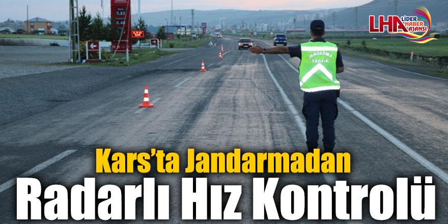Kars'ta Jandarmadan Radarlı Hız Kontrolü