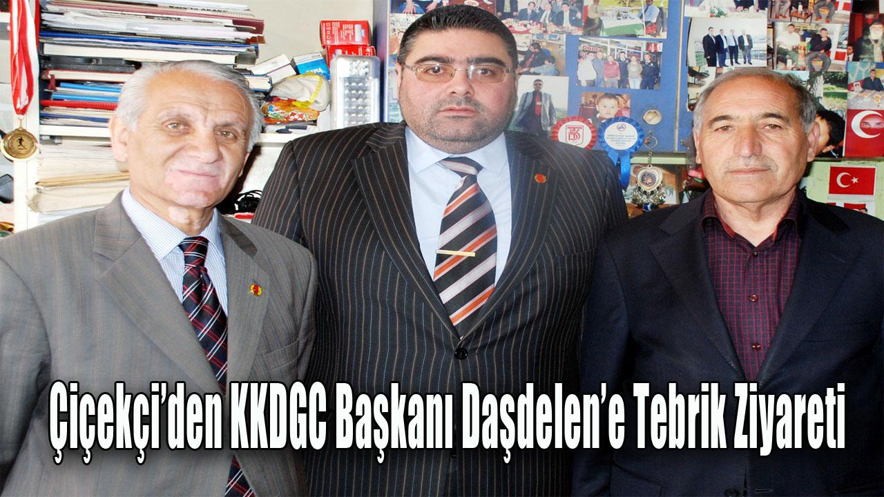 Çiçekçi'den KKDGC Başkanı Daşdelen'e Tebrik Ziyareti