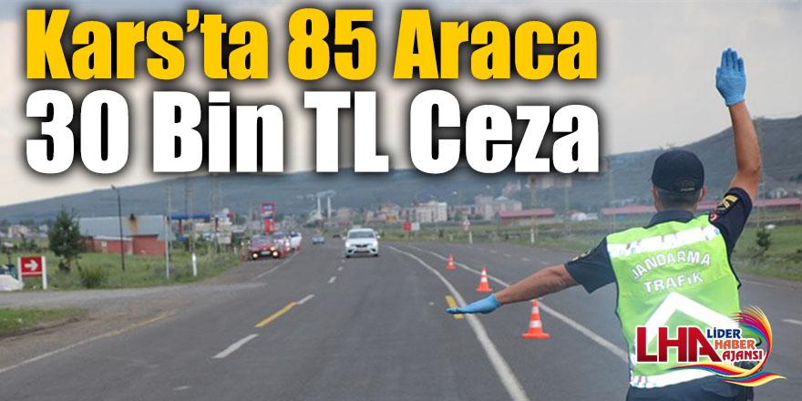 Kars'ta 85 Araca 30 Bin TL Ceza