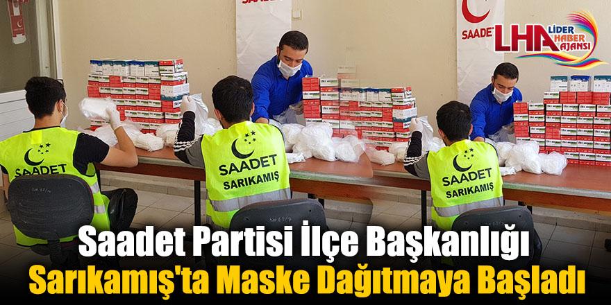 Saadet Partisi İlçe Başkanlığı Sarıkamış'ta Maske Dağıtmaya Başladı