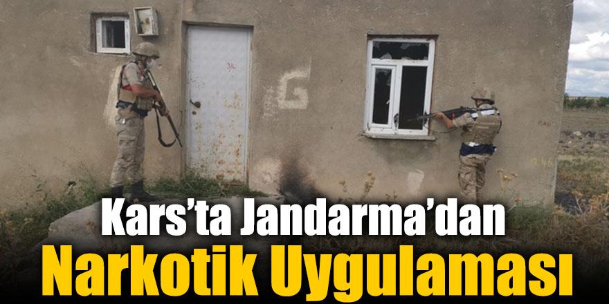 Kars'ta Jandarma'dan Narkotik Uygulaması