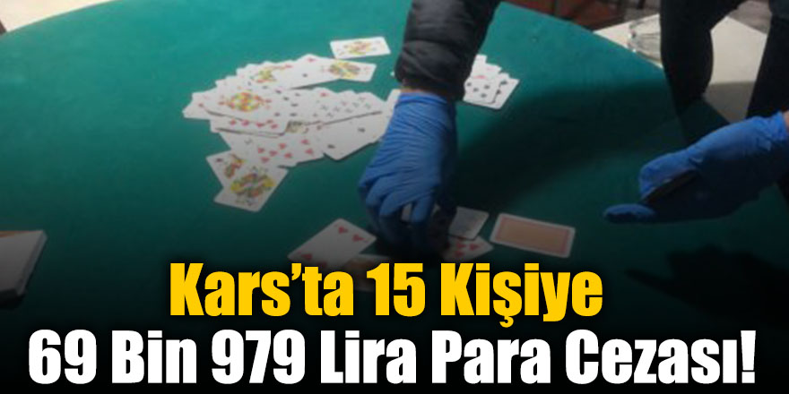 Kars'ta 15 Kişiye 69 Bin 979 Lira Para Cezası!