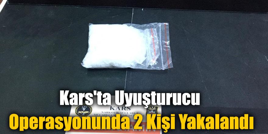 """Kars'ta Dedektör Köpek """"Odin"""" Destekli Uyuşturucu Operasyonunda 2 Kişi Yakalandı"""