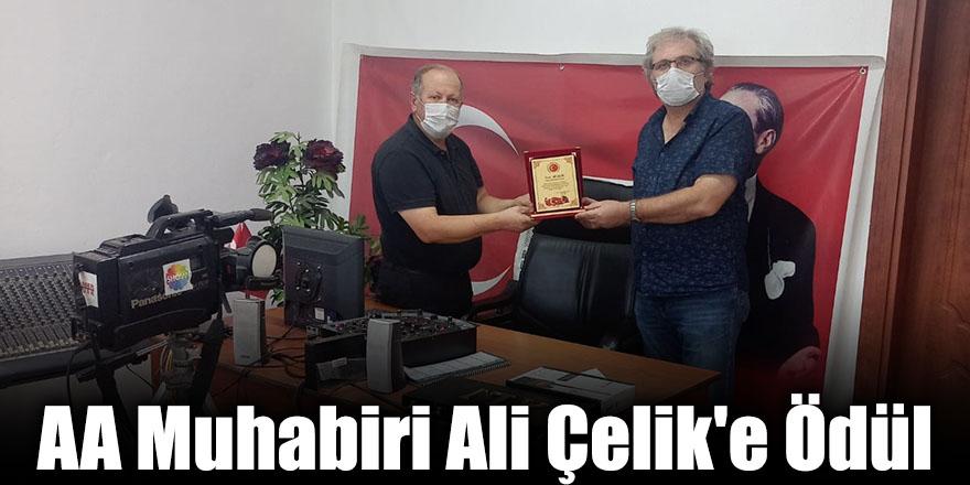 AA Muhabiri Ali Çelik'e Ödül