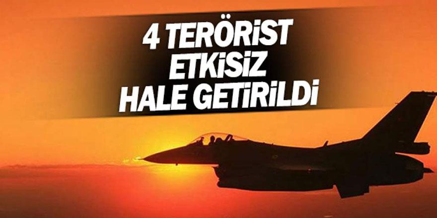 4 Terörist Etkisiz Hale Getirildi