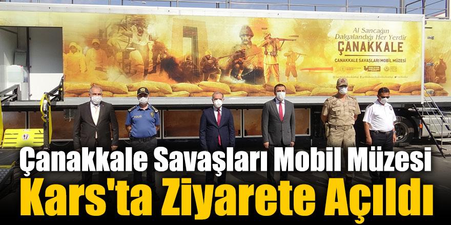 Çanakkale Savaşları Mobil Müzesi Kars'ta Ziyarete Açıldı