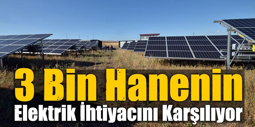 Kış Kentinde Güneş Enerjisiyle 3 Bin Hanenin Elektrik İhtiyacını Karşılıyor