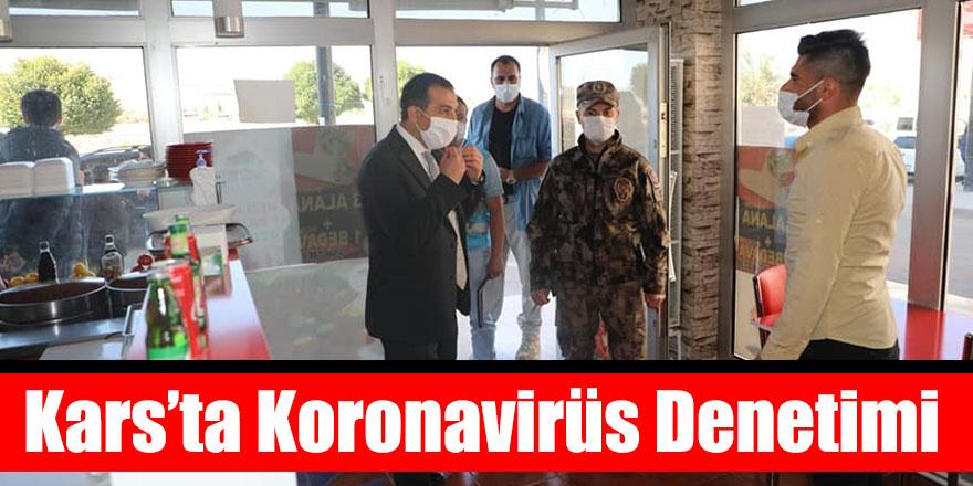 Kars'ta Koronavirüs Denetimi