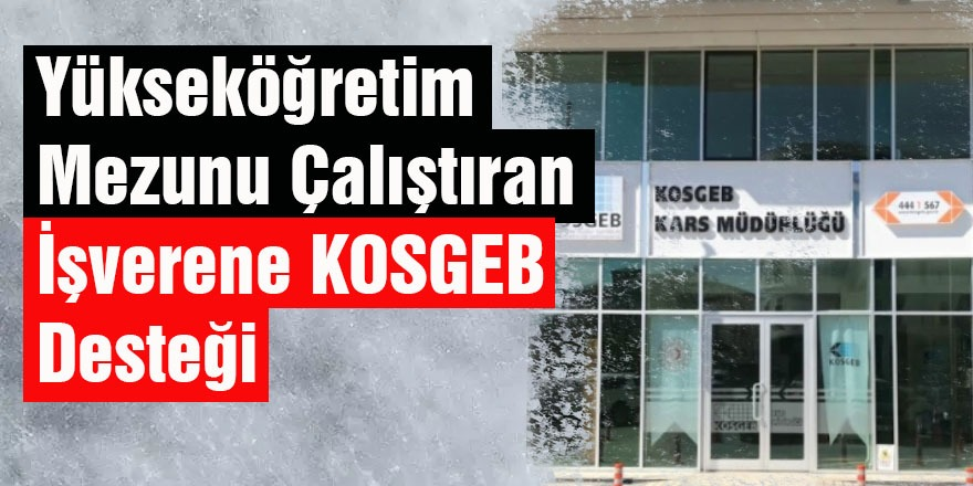 Yükseköğretim mezunu çalıştıran işverene KOSGEB desteği