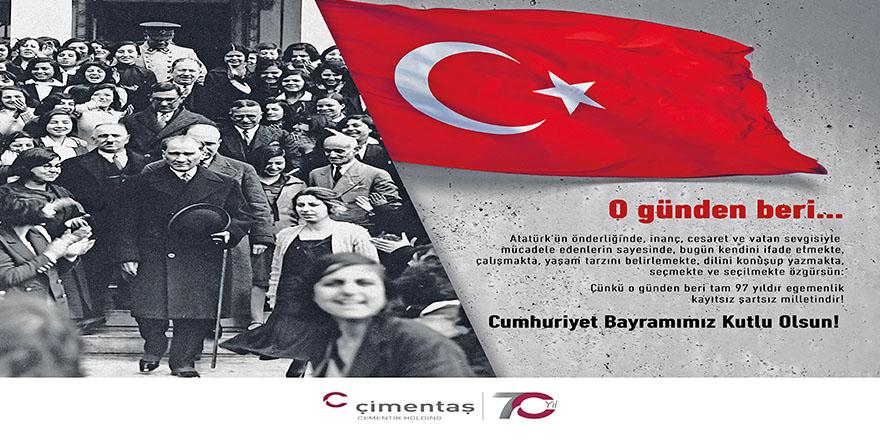 Kars Çimento Fabrikası 29 Ekim Cumhuriyet Bayramını Kutlar
