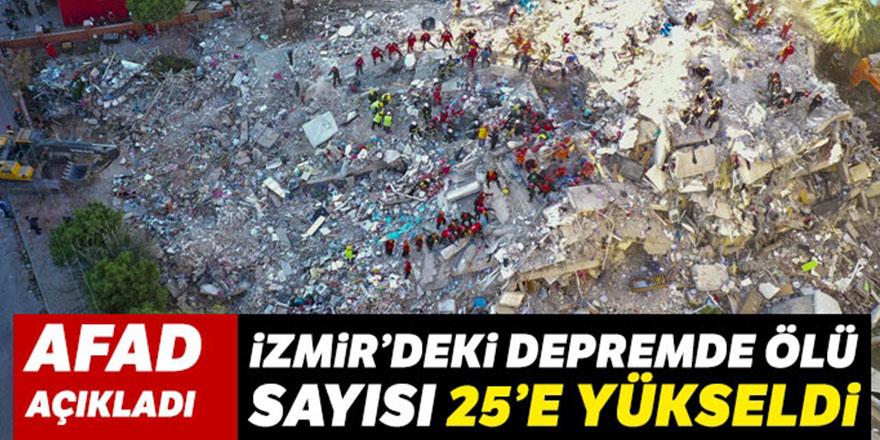 İzmir'deki depremde ölü sayısı 25'e yükseldi
