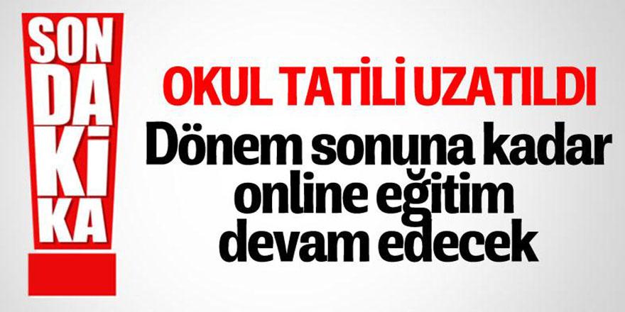 Cumhurbaşkanı Erdoğan: Dönem sonuna kadar uzaktan eğitim olacak