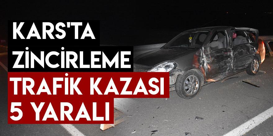Kars'ta Zincirleme Trafik Kazası: 5 Yaralı
