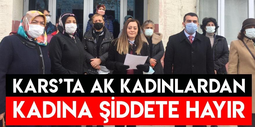 Kars'ta AK Kadınlardan Kadına Şiddete Hayır