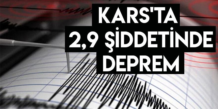 Kars'ta 2,9 Şiddetin de Deprem