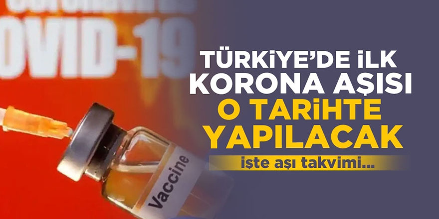 Türkiye'de ilk korona aşısı o tarihte yapılacak! İşte aşı takvimi