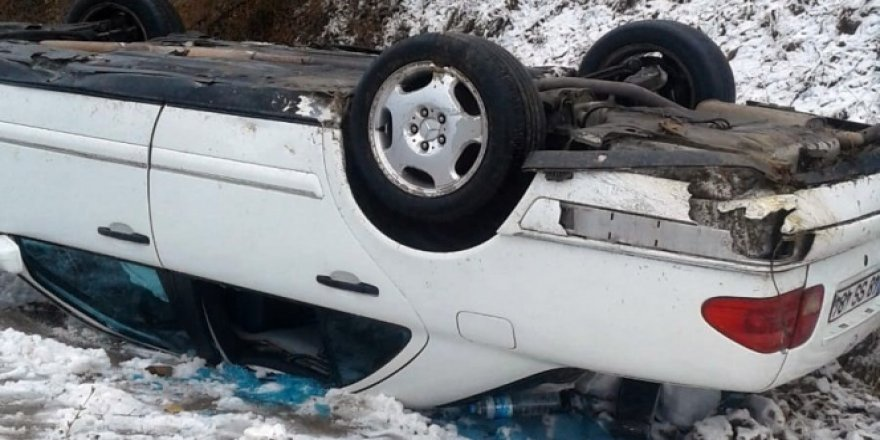 Gümüşhane'de otomobil takla attı: 4 yaralı