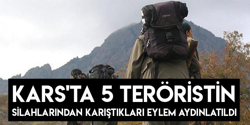 Kars'ta 5 Teröristin Silahlarından Karıştıkları Eylem Aydınlatıldı