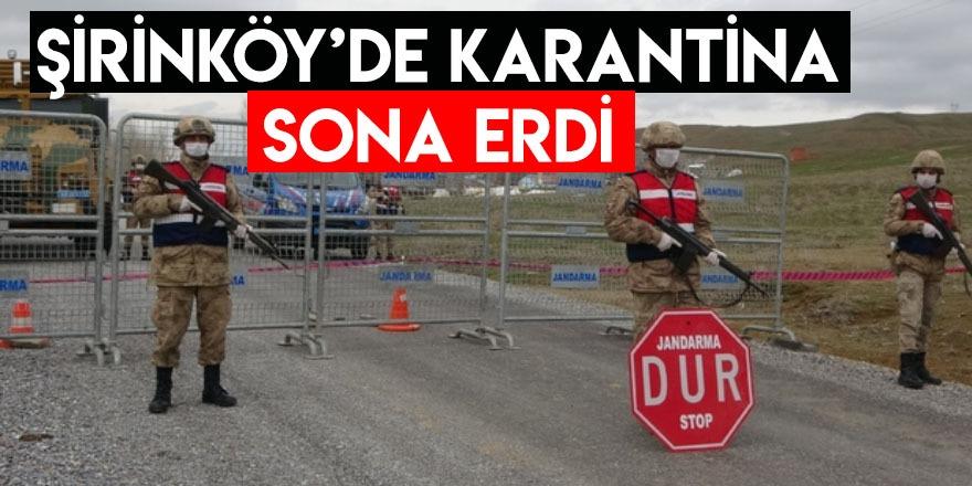 Kars'ta Şirinköy'de Karantina Sona Erdi